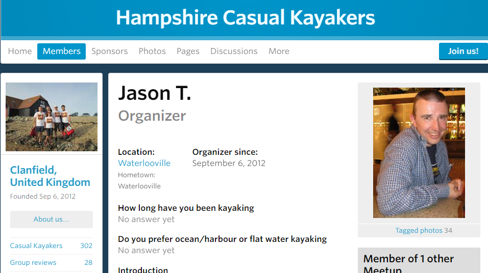 Jason Temperton - Hampshire Casual Kayakers group founder interview 1
