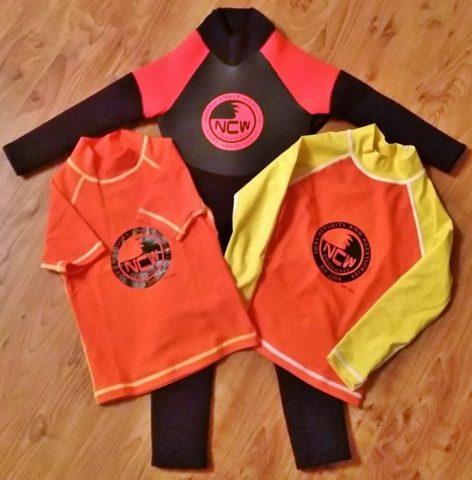 NCW Child Rash Vests & Wetsuit 1